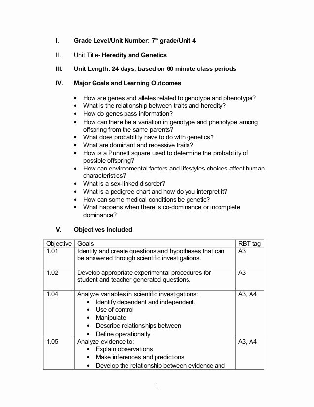 Genetics Worksheet Answer Key Awesome 7th Heredity & Genetics 10 13 08
