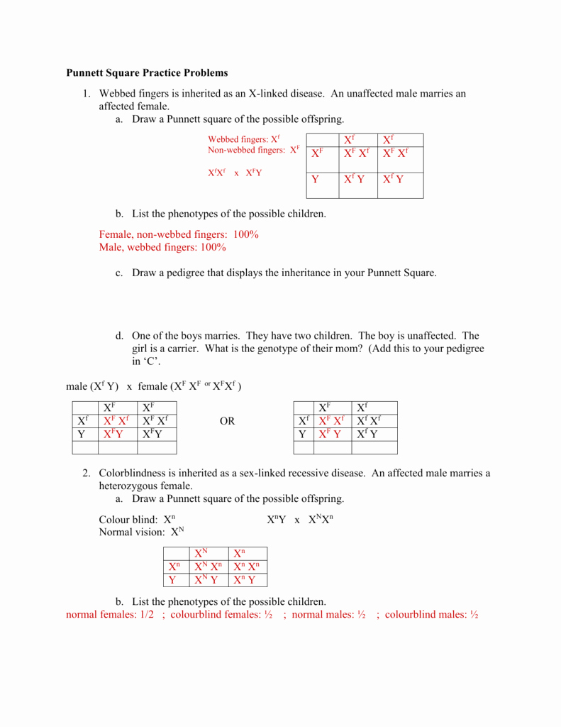 Genetics X Linked Genes Worksheet Awesome Linked Worksheet Answers