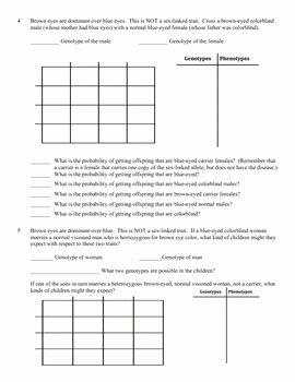 Genetics X Linked Genes Worksheet Best Of Genetics Practice Problem Worksheet Linked Genes