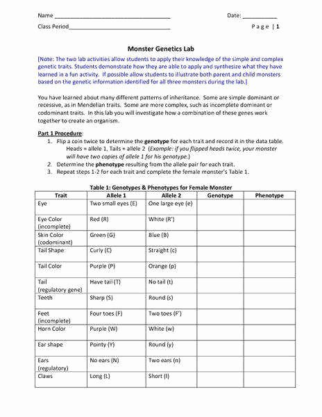 Genetics X Linked Genes Worksheet Lovely Genetics Worksheet