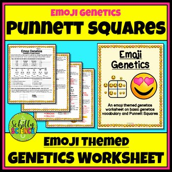 Genotypes and Phenotypes Worksheet Fresh Emoji Punnett Squares Worksheet Genetics Genotype