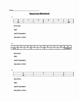 Geometric and Arithmetic Sequence Worksheet Elegant Arithmetic and Geometric Sequences