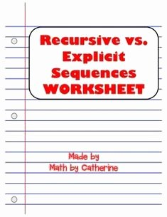 Geometric and Arithmetic Sequence Worksheet Luxury Arithmetic & Geometric Sequences Worksheet and Homework