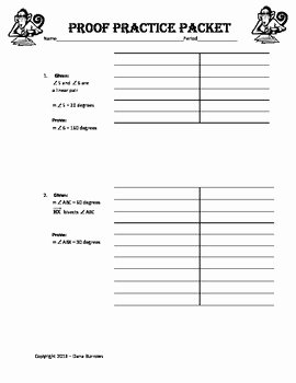 Geometric Proofs Worksheet with Answers Awesome Geometry Proof Practice Study Guide with Detailed Answer