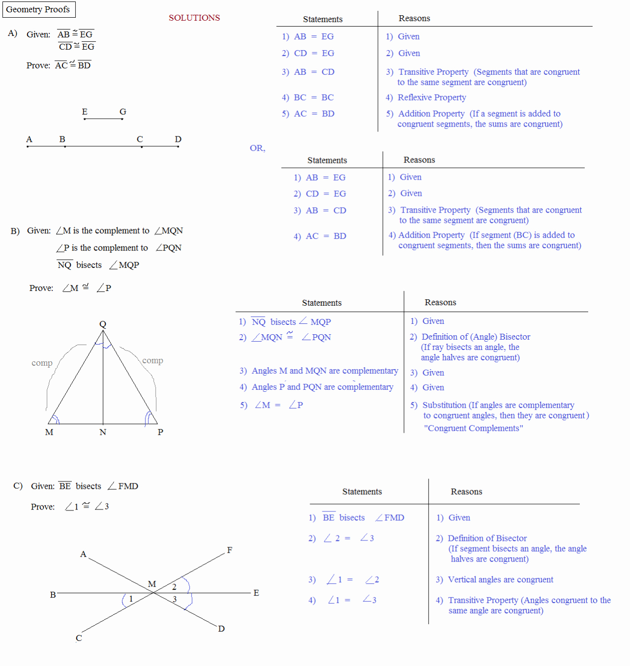 Geometric Proofs Worksheet with Answers Fresh Math Plane Proofs & Postulates 1 Worksheet