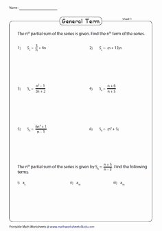 Geometric Sequence and Series Worksheet Fresh Finite Geometric Series Worksheets