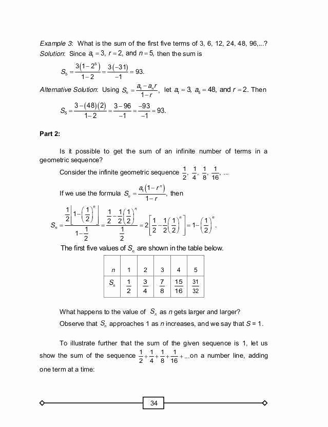Geometric Sequence and Series Worksheet Unique Arithmetic and Geometric Sequences Worksheet