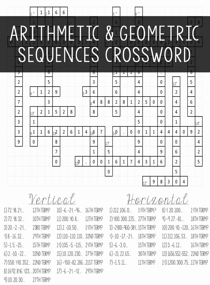Geometric Sequence Worksheet Answers Luxury Arithmetic & Geometric Sequences