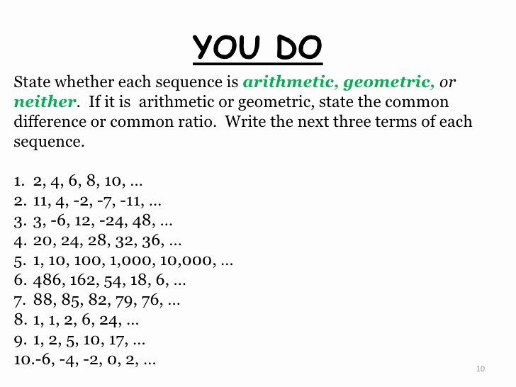 Geometric Sequences Worksheet Answers Inspirational What are Sequences