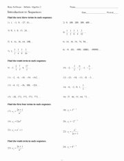 Geometric Sequences Worksheet Answers Luxury Kuta software Infinite Algebra 2 Arithmetic Sequences
