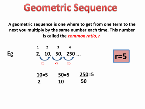 Geometric Sequences Worksheet Answers New Geometric Sequence and Series Powerpoint by Nerys
