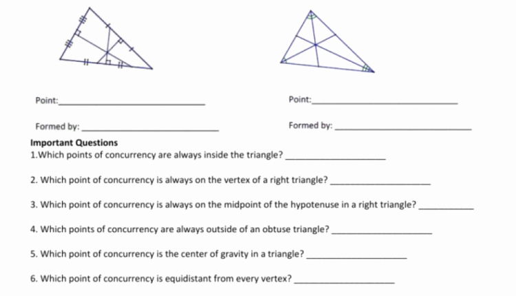 Geometry Points Of Concurrency Worksheet Awesome Awesome Geometry Fall Lesson Mp Worksheet Triangle Centers