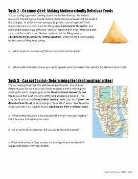 Geometry Points Of Concurrency Worksheet Awesome Geometry Concurrent Points Geogebra Activity