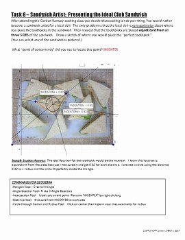 Geometry Points Of Concurrency Worksheet Inspirational Geometry Concurrent Points Geogebra Activity