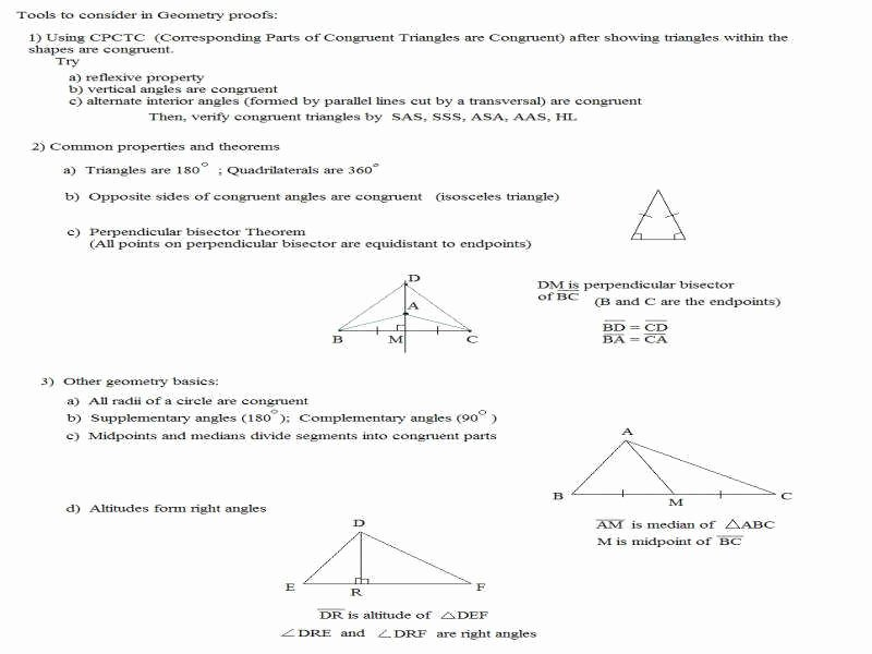 Geometry Proof Practice Worksheet Beautiful Geometric Proofs Worksheet