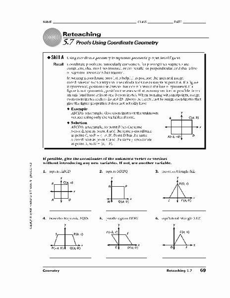 Geometry Proof Practice Worksheet Lovely Proofs Using Coordinate Geometry Worksheet for 10th 12th