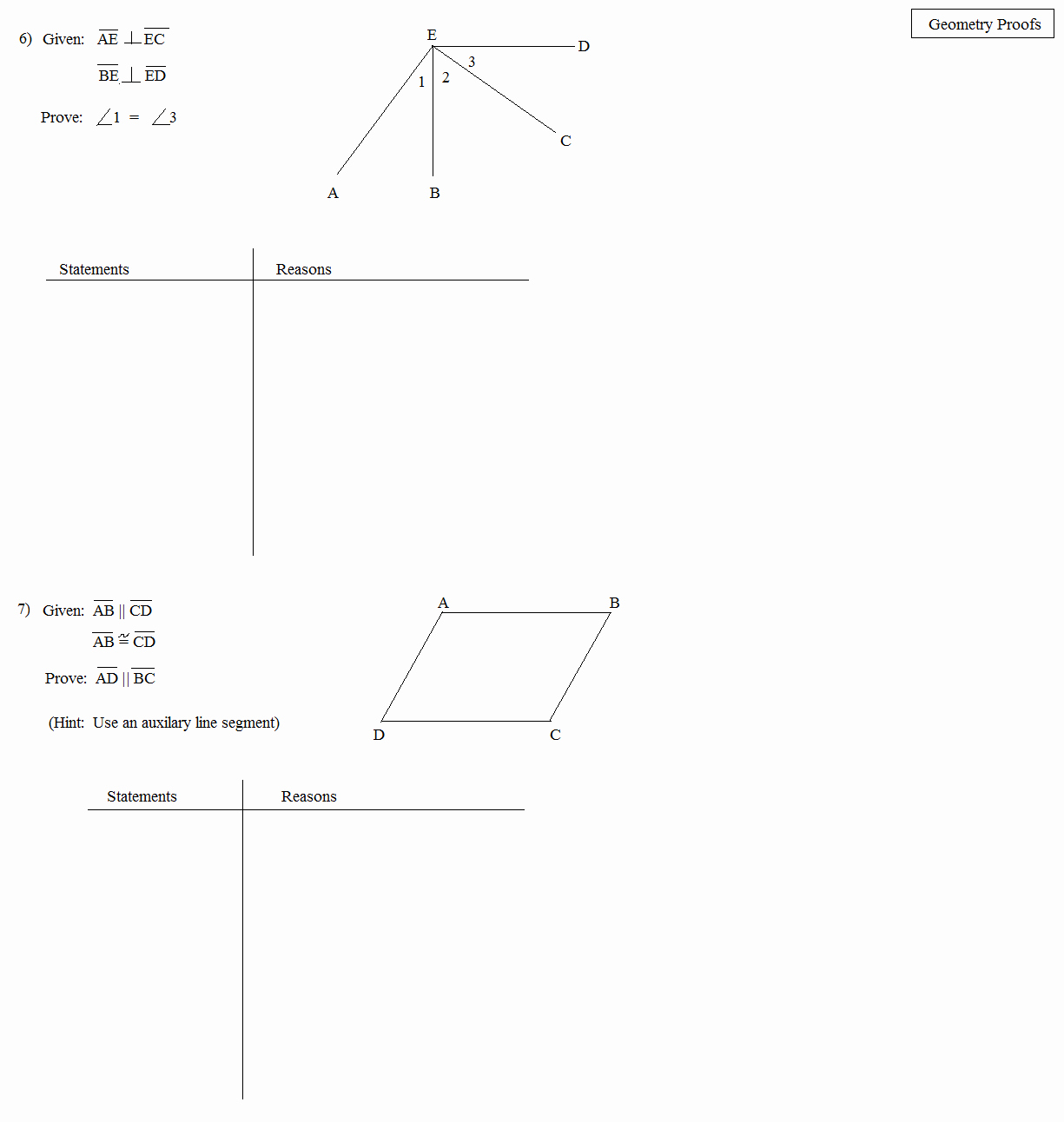 Geometry Proof Practice Worksheet New Math Plane Proofs & Postulates 1 Worksheet