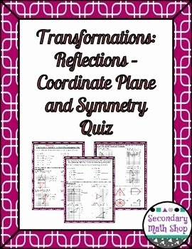 Geometry Transformation Composition Worksheet Elegant Transformations Reflections Coordinate Plane and