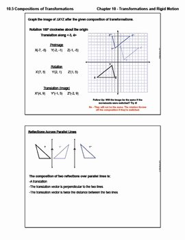 Geometry Transformation Composition Worksheet Fresh Positions Of Transformations Lesson with Homework by