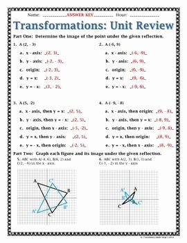 Geometry Transformations Worksheet Answers Lovely Geometry On Pinterest