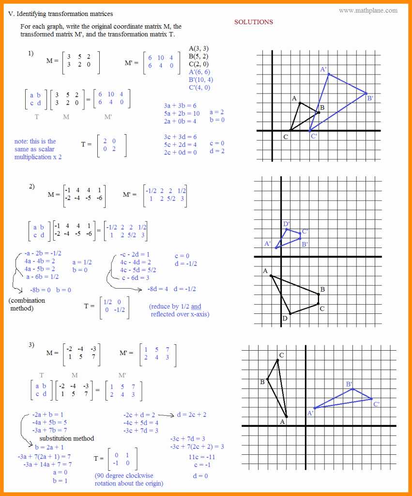Geometry Transformations Worksheet Answers New Maths Rotation Worksheets Picture Worksheet Mogenk Paper