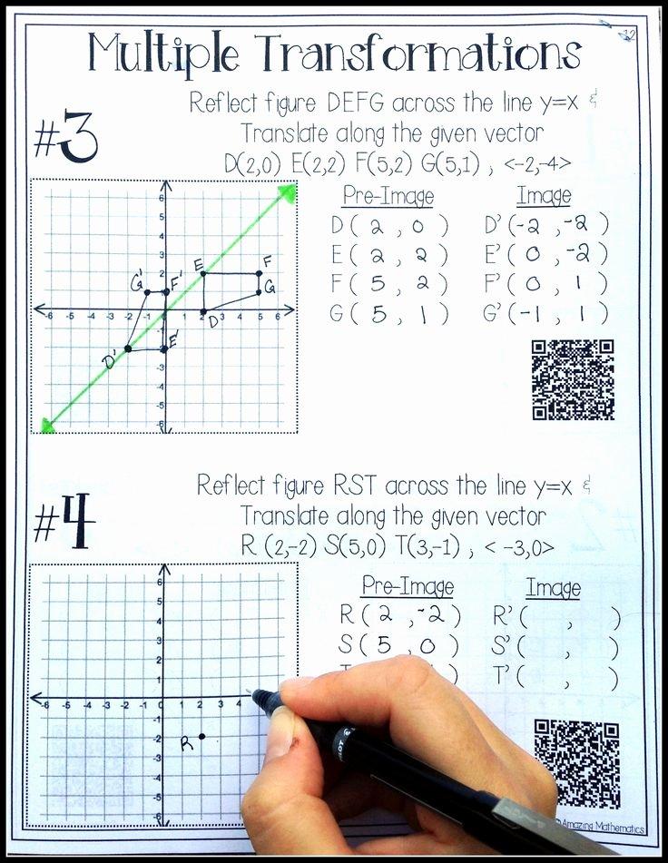 Geometry Transformations Worksheet Pdf Best Of Hs Geometry Transformations Workbook Translations