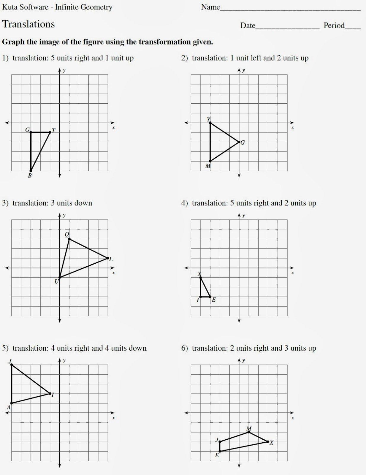 Geometry Transformations Worksheet Pdf Best Of Mr Matt S Math Classes assignment Translations