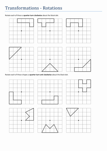 Geometry Transformations Worksheet Pdf Best Of Transformations Rotations No Axes Worksheet by