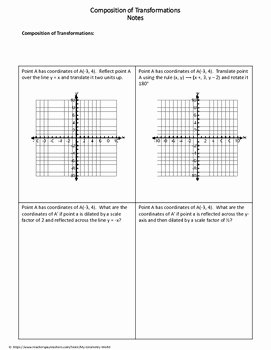 Geometry Transformations Worksheet Pdf Inspirational Geometry Worksheet Position Of Transformations by My