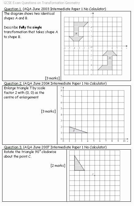 Geometry Transformations Worksheet Pdf Inspirational Transformation Geometry