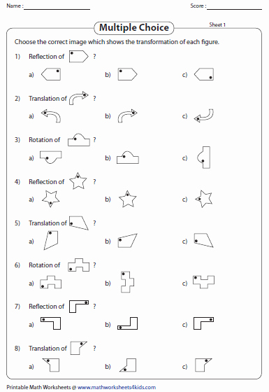 Geometry Transformations Worksheet Pdf Lovely Transformation Worksheets Reflection Translation Rotation