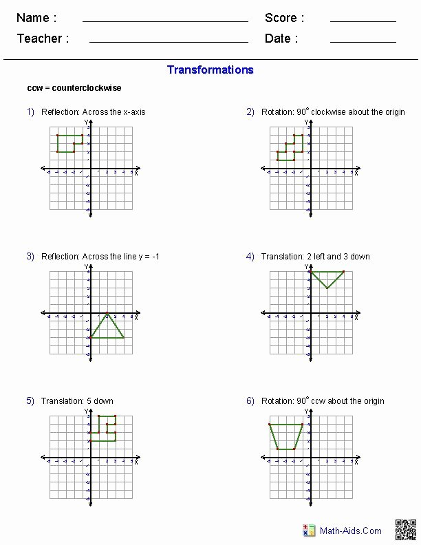 Geometry Transformations Worksheet Pdf New 21 Best 10 Worksheet Images On Pinterest