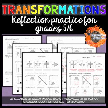 Geometry Transformations Worksheet Pdf New Transformations Practicing Reflections Worksheet by