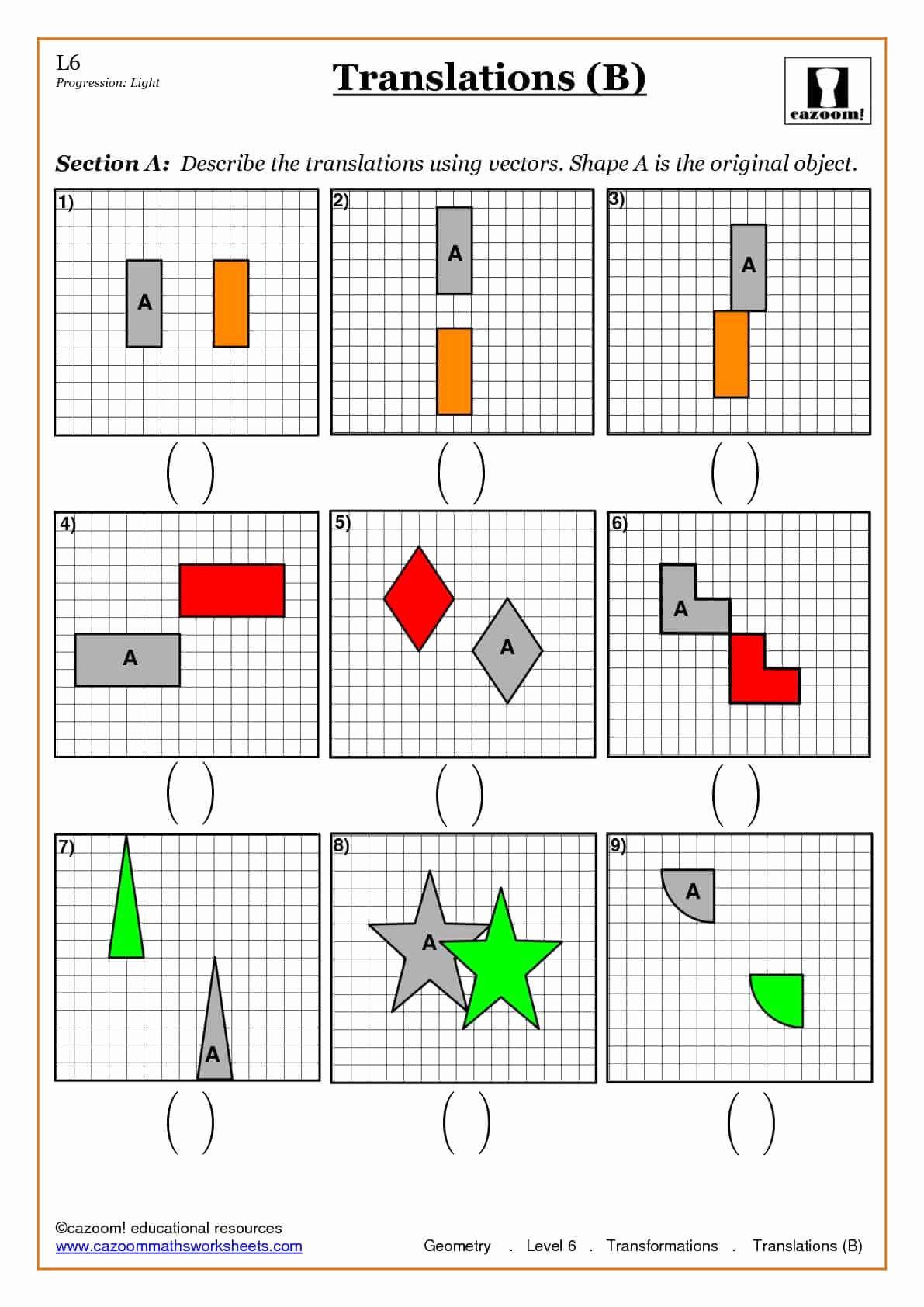 Geometry Transformations Worksheet Pdf Unique Trigonometry and Pythagoras Worksheets