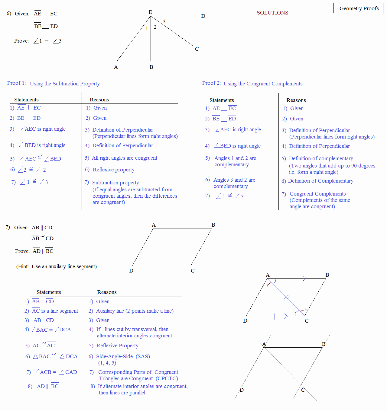 Geometry Worksheet Beginning Proofs Answers Unique Math Plane Proofs & Postulates 1 Worksheet