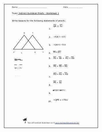 Geometry Worksheet Beginning Proofs New Geometric Proofs Worksheet
