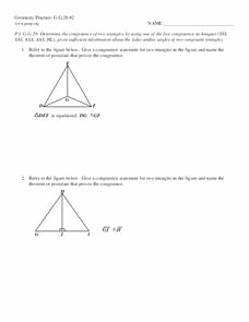 Geometry Worksheet Congruent Triangles Answers Beautiful Geometry Practice G G 28 2 Triangle Congruence