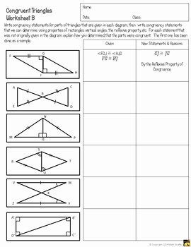 Geometry Worksheet Congruent Triangles Answers Unique Congruent Triangles Activity Sss Sas asa Aas and Hl