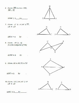 Geometry Worksheet Congruent Triangles Beautiful Geometry Unit 8 Congruent Triangles Informal Proofs Sss