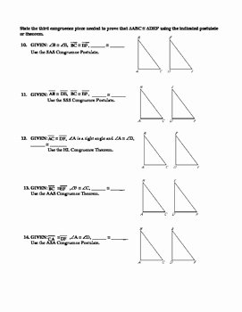 Geometry Worksheet Congruent Triangles Inspirational Geometry Unit 8 Congruent Triangles Sss Sas asa Aas Hl