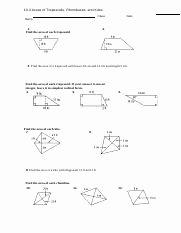 Geometry Worksheet Kites and Trapezoids Awesome Q1 Worksheet 10 2 area Of Trapezoids Rhombus and Kites