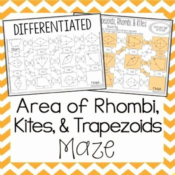 Geometry Worksheet Kites and Trapezoids Best Of area Of Trapezoids Rhombi and Kites Maze