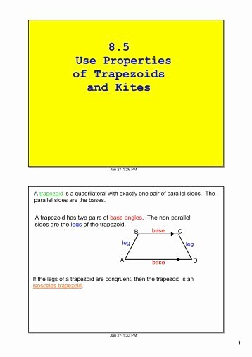 Geometry Worksheet Kites and Trapezoids Fresh Trapezoid and Kite Worksheet
