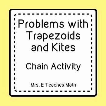 Geometry Worksheet Kites and Trapezoids Fresh Trapezoids and Kites Ladder Activity