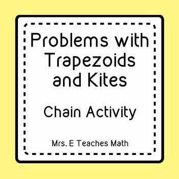 Geometry Worksheet Kites and Trapezoids Fresh Trapezoids and Kites Ladder Activity