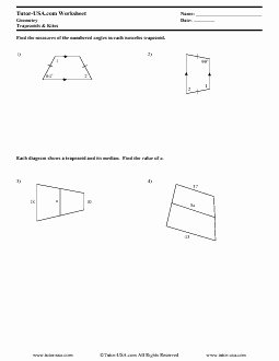 Geometry Worksheet Kites and Trapezoids Unique 12 Best Of Trap and Kites Worksheet Geometry
