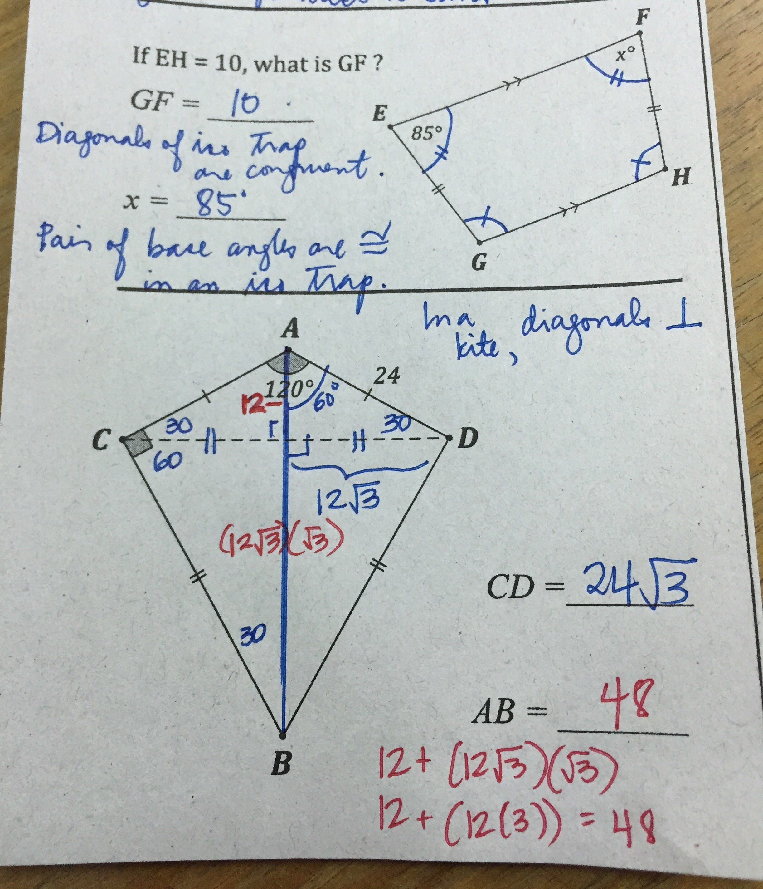 Geometry Worksheet Kites and Trapezoids Unique Grade 11 Regular – ateneo High School Mathematics