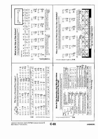 Get the Message Worksheet Answers Elegant Algebra with Pizzazz Worksheet Answers