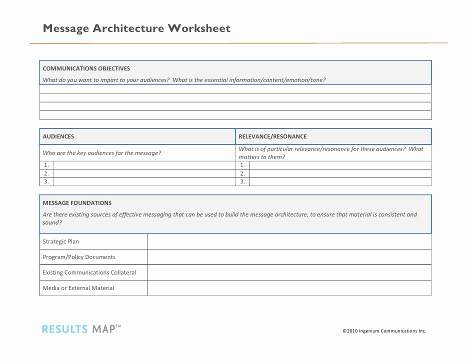 Get the Message Worksheet Answers New Message Architecture Worksheet
