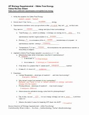 Gibbs Free Energy Worksheet Beautiful Enzymes Ap Biology 048 Enzymes Video Review Sheet